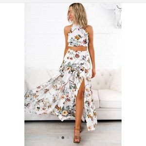 Dresses & Skirts - Floral Two-Piece Set